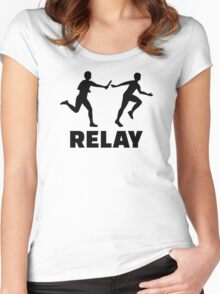 Relay race Women's Fitted Scoop T-Shirt