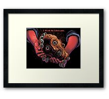 The navigator's head and necklace! (Monkey Island 1) Framed Print
