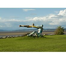 Venus and Cupid Sculpture - Morecambe Bay Photographic Print