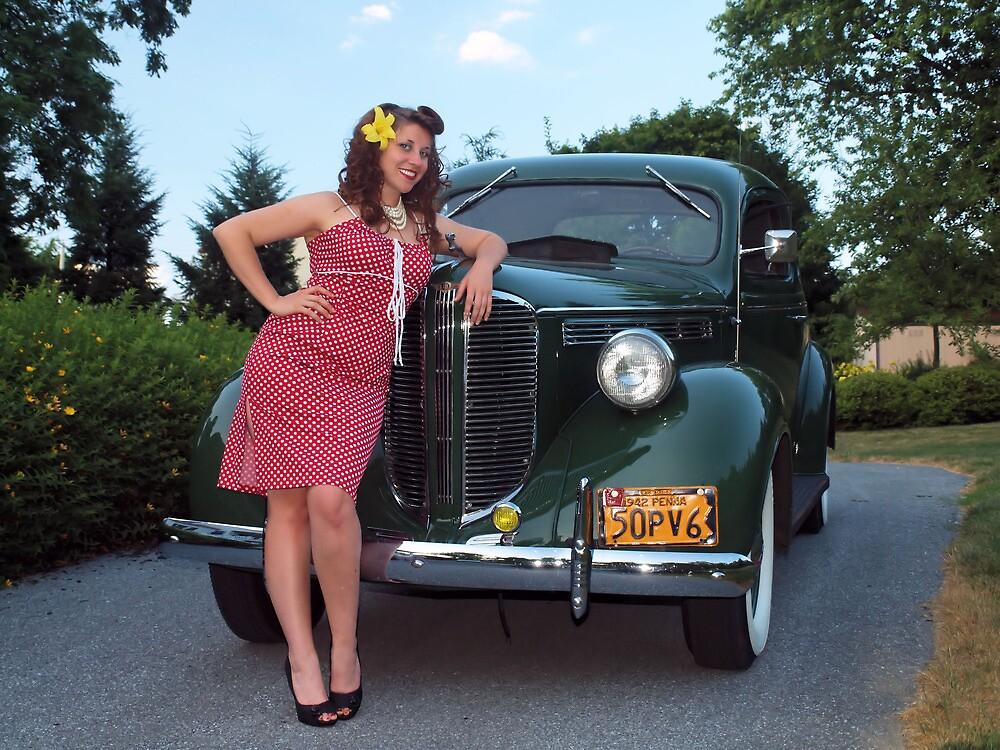 Jordan and the 1938 Dodge by LibertyCalendar