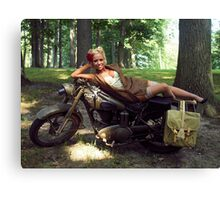 Dawn on a Matchless motorcycle Canvas Print