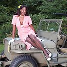 Violet on a Jeep by LibertyCalendar