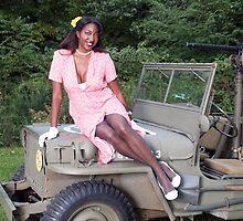 Violet on a Jeep by LibertyCalendar