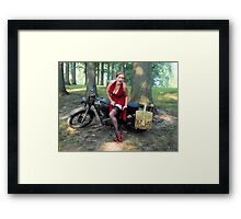 Matchless and Redhead Framed Print