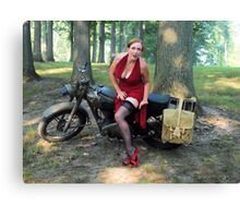 Matchless and Redhead Canvas Print