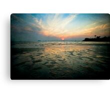 Low Tide Sunset Canvas Print