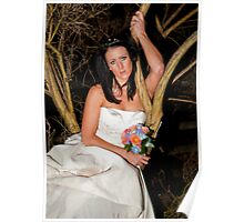 Bride with Flowers Poster
