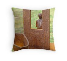 Stranger in the Window Throw Pillow