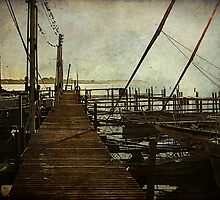 The Pier at Dawn by Susan  Kimball