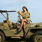 Ashley on a '44 Willys MB by LibertyCalendar