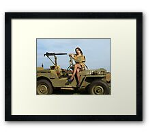 Ashley on a '44 Willys MB Framed Print