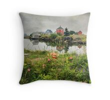 Foggy Day at Stonehurst I Throw Pillow