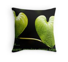 LOVE is two hearts growing strong together Throw Pillow