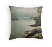 Stonehurst in the Fog III Throw Pillow