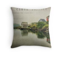 Stonehurst in the Fog II Throw Pillow