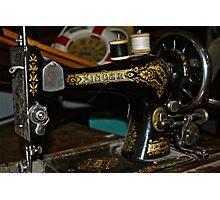 Antique Singer Sewing Machine Photographic Print