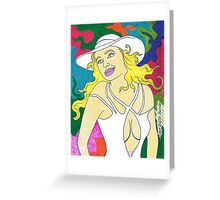 '' Pretty Hat Barbie ''   Greeting Card