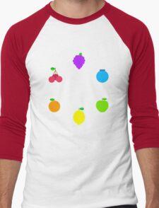 Rainbow Fruit Men's Baseball ¾ T-Shirt