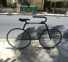 Bike Rack- Downtown Waikiki by Anna Chudko