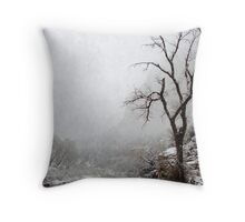 Zion Snowstorm Throw Pillow