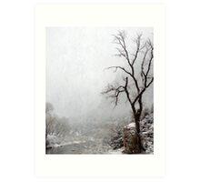 Zion Snowstorm Art Print