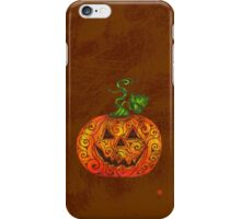 Swirly Pumpkin iPhone Case/Skin