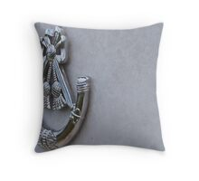 Horn. Throw Pillow
