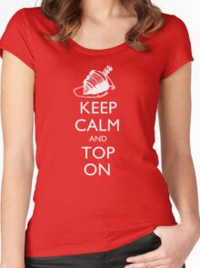 Magic the Gatherin: Keep Calm & Top On Women's Fitted Scoop T-Shirt