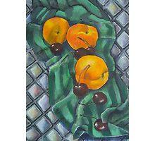 Peaches and Cherries Photographic Print