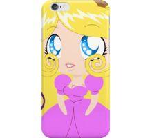 Blond Cupcake Princess In Pink Dress iPhone Case/Skin