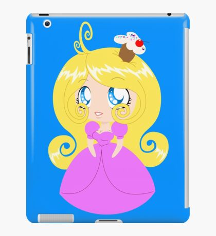 Blond Cupcake Princess In Pink Dress iPad Case/Skin