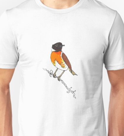 Guilty Looking Male Stonechat (Saxicola torquata) Unisex T-Shirt