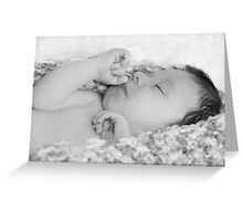 Sleeping Baby Greeting Card