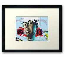 Chris Evans - Thinking 2 Much Framed Print