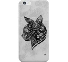 Swirly Cat Portrait iPhone Case/Skin