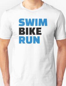 Swim bike run Unisex T-Shirt