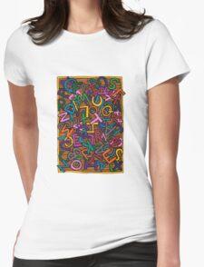 Alphabet Womens Fitted T-Shirt