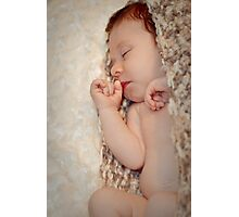 Slumber, Peacefully sleeping the baby ... Photographic Print