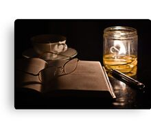A Candlelight Scene Canvas Print
