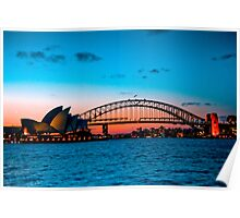 Sydney Harbour at Dusk Poster