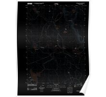 USGS Topo Map Oregon Brady Butte 20110816 TM Inverted Poster