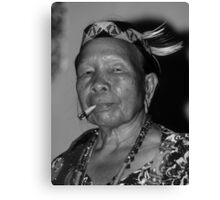 Dayak Woman Canvas Print
