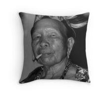 Dayak Woman Throw Pillow