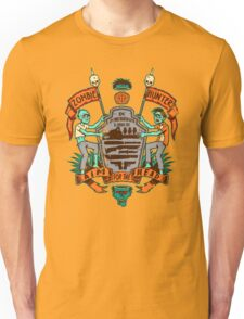 Zombie Hunters Coat of Arms (BROWN) T-Shirt
