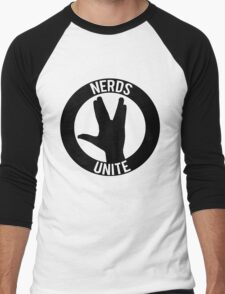 NERDS UNITE - VULCAN SALUTE Men's Baseball ¾ T-Shirt