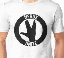 NERDS UNITE - VULCAN SALUTE Unisex T-Shirt