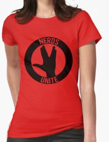 NERDS UNITE - VULCAN SALUTE Womens Fitted T-Shirt
