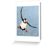 """Playful Puffin"" Greeting Card"