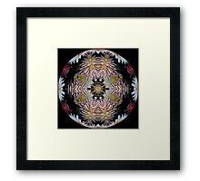 Dazzling Dahlias Ball Framed Print