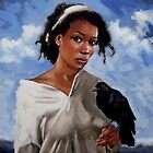 A Woman with Crow by ralph macdonald